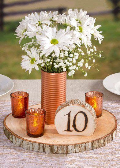 David Tutera Natural Round Wood Slab Tray for Centerpieces