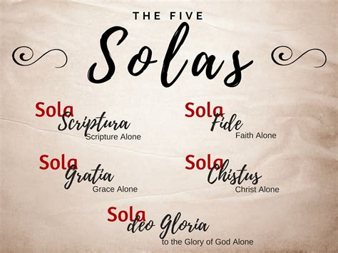 The Five Solas - Orchard Community Church