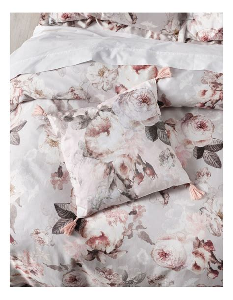 Grace By Linen House Stefania Quilt Cover Set In Silver   MYER