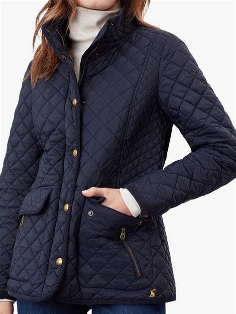 Joules Newdale Quilted Jacket, Marine Navy at John Lewis