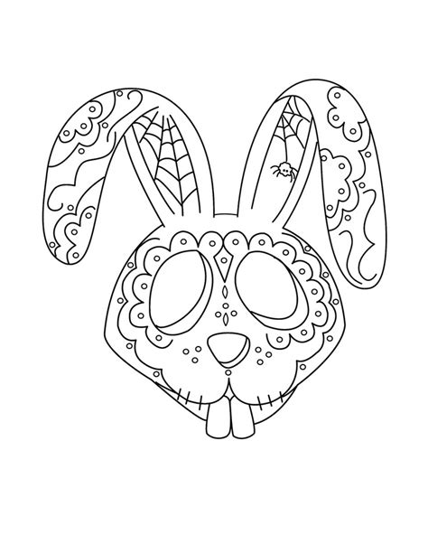 Free Printable Day of the Dead Coloring Pages - Best