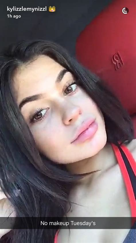 Kylie Jenner Just Went Makeup-Free on Snapchat—Without a