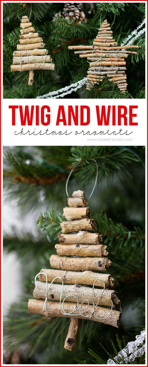Twig and Wire Christmas Ornaments - U Create