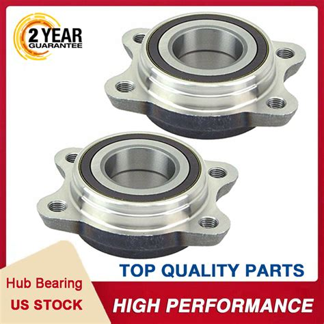 New Front/Rear Wheel Hub and Bearing Assembly Set fit 2000