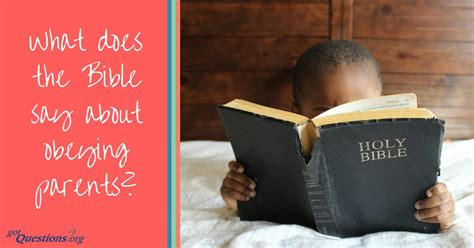 What does the Bible say about obeying parents