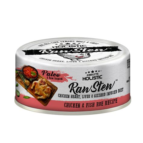 Absolute Holistic Raw Stew Canned Cat Food Chicken & Fish