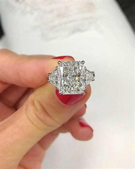 Radiant Cut 3 Stone Engagement Ring   Ring Concierge