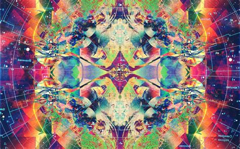 psychedelic, Abstract, Colorful, Symmetry Wallpapers HD