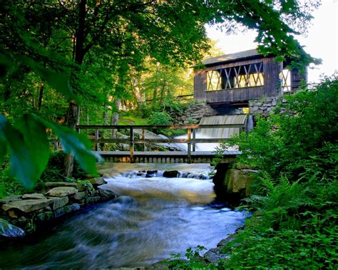 Magical Sutton Falls Waterfall Campground In Massachusetts