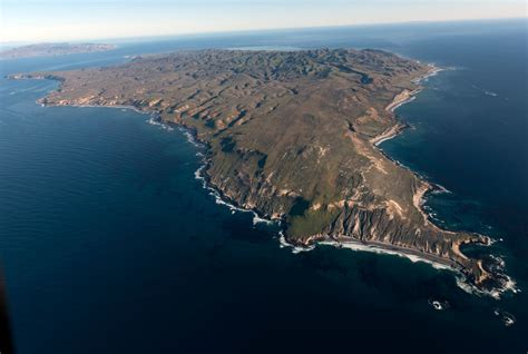 Aerial view of Santa [Rosa] Island, one of eight islands