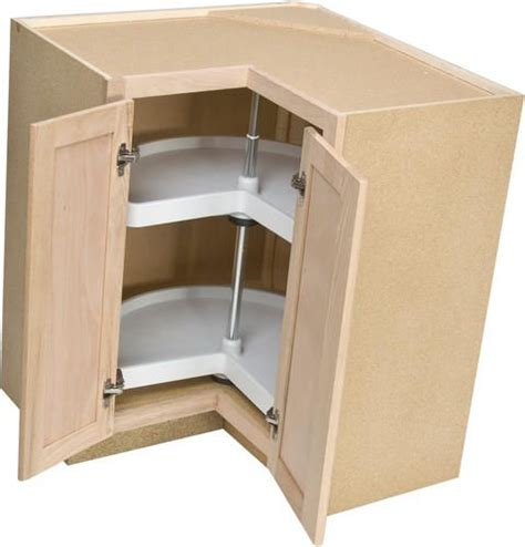 Lazy Susan 33″ Rotating Wood Shelving – Birch (With images