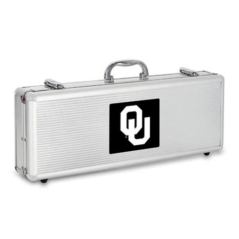 Oklahoma Sooners BBQ Tools and Engraved Case   BBQ FANS
