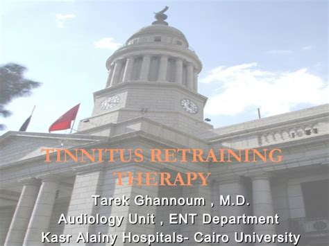 What is tinnitus retraining therapy