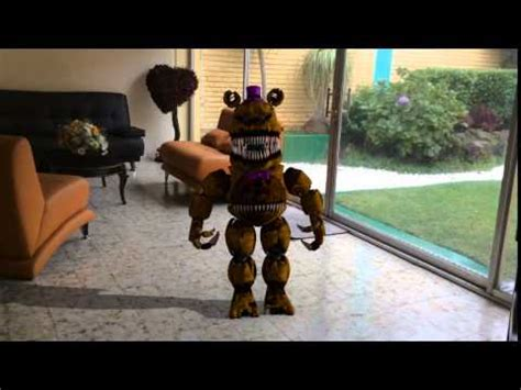 Nightmare Fredbear In Real Life (Blender Animation) - YouTube
