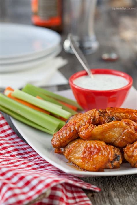 Buffalo Wings with Dairy Free Ranch Dressing (Paleo, Keto