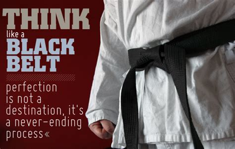 Think Like a Black Belt: Perfection is Not a Destination