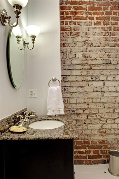 48 Stylish Bathrooms With Brick Walls And Ceilings - DigsDigs