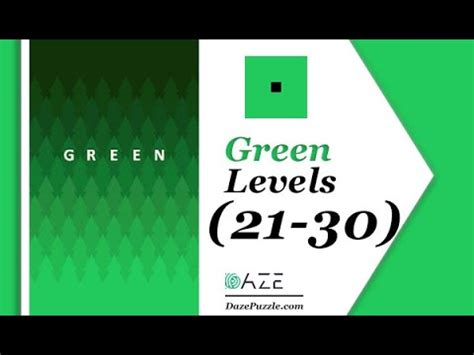 Green Puzzle Game Level 21 22 23 24 25 26 27 28 29 30