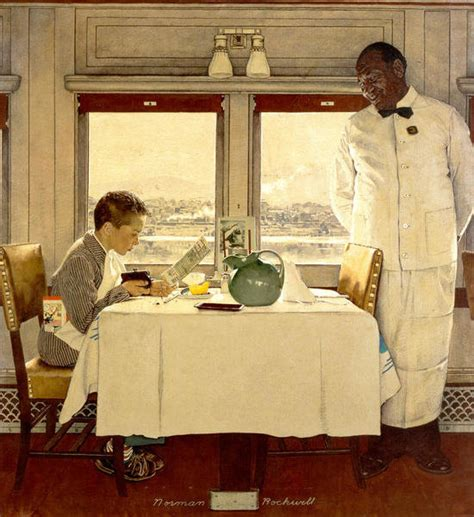 Boy in a Dining Car, 1946 by Norman Rockwell - Paper Print