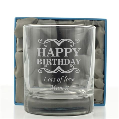 Personalised Happy Birthday Whisky Glass