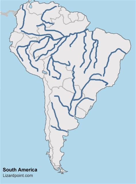 Test your geography knowledge - South America Rivers and
