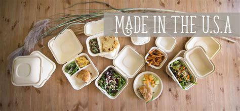 Compostable Take Out Containers, Eco Friendly Disposable