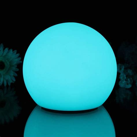 Set of 3 Indoor LED Sphere Lamps Rechargeable RGB Sensory