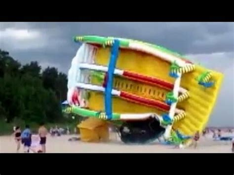 Be aware of this new bounce house flying away