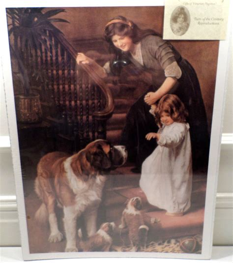 Victorian Lithograph Print Picture You Be Good Mother