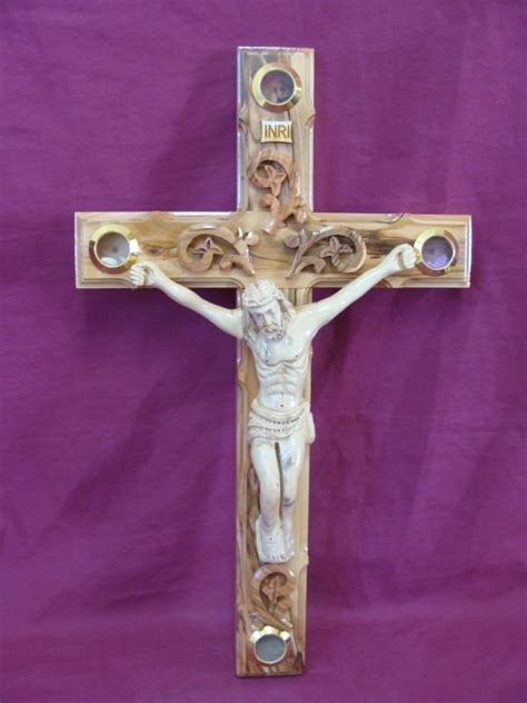Easter Religious Hand Carved Decorative Wooden Cross - Buy
