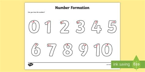 Number Formation Worksheets | Tracing Numbers (teacher made)