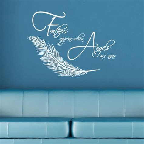 Feathers Appear When Angels Are Near Wall Sticker – ZygoMax