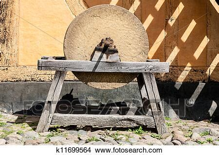 Old type of grinding wheel Picture   k11699564   Fotosearch