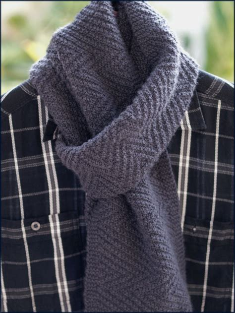 17 Best images about Men's Scarf Knitting Patterns on
