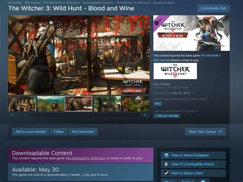 The Witcher III Blood & Wine DLC Release Date Leaked