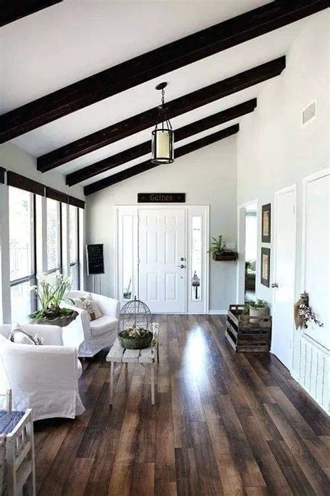 Half-vaulted ceiling with beams | Joanna gaines house